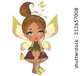 a beautiful fairy isolated on a ... | Shutterstock . vector #212657008