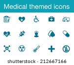 medical themed icons | Shutterstock .eps vector #212667166