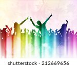 dancing people silhouettes | Shutterstock .eps vector #212669656