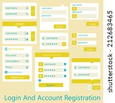 user interface login and... | Shutterstock .eps vector #212683465