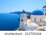 Beautiful Village Of Oia In...