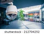 cctv camera operating inside a... | Shutterstock . vector #212704252