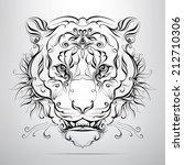 vector tiger head in the... | Shutterstock .eps vector #212710306