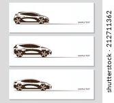 set of modern car silhouettes... | Shutterstock .eps vector #212711362