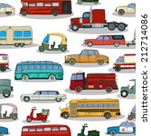 cartoon retro cars seamless... | Shutterstock .eps vector #212714086