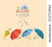 vector autumn doodles card....   Shutterstock .eps vector #212714962