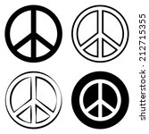 peace sign symbol | Shutterstock .eps vector #212715355