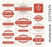 vector vintage design elements. ... | Shutterstock .eps vector #212721676
