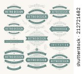 vector vintage design elements. ... | Shutterstock .eps vector #212721682