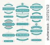 vector vintage design elements. ... | Shutterstock .eps vector #212721712
