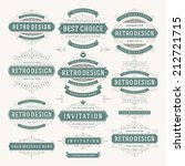vector vintage design elements. ... | Shutterstock .eps vector #212721715