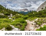 View On The Dolomite Moutnains...