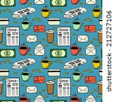 business seamless pattern with... | Shutterstock .eps vector #212727106