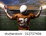 football player on a orange... | Shutterstock . vector #212727406
