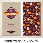 halloween two sides poster or... | Shutterstock .eps vector #212727892