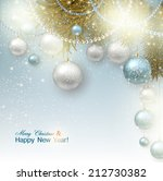 christmas background with balls.... | Shutterstock .eps vector #212730382