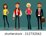 cute cartoon illustration of... | Shutterstock .eps vector #212732062