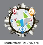 vector of city skyline | Shutterstock .eps vector #212732578