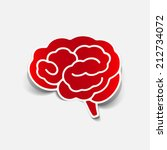 brain sticker  realistic design ... | Shutterstock . vector #212734072