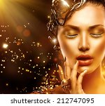 beautiful magic woman portrait. ... | Shutterstock . vector #212747095