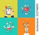 medical flat vector background... | Shutterstock .eps vector #212748892
