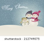 family of snowman christmas