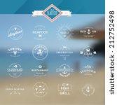 set of vintage style elements... | Shutterstock .eps vector #212752498