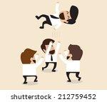 vector cartoon of businessmen... | Shutterstock .eps vector #212759452