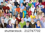 large group of multiethnic... | Shutterstock . vector #212767732