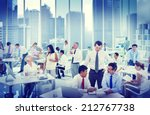 business people working in an... | Shutterstock . vector #212767738