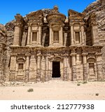 Ancient Temple In Petra  Jordan