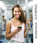 young female using smartphone... | Shutterstock . vector #212789962