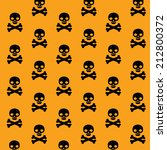 vector pattern with skulls and...   Shutterstock .eps vector #212800372