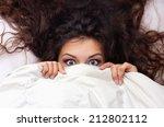 young brunette shocking  woman...   Shutterstock . vector #212802112