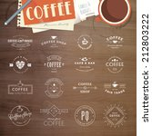 set of vintage style elements... | Shutterstock .eps vector #212803222