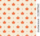 Retro Seamless Pattern. Orange...