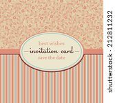vector invitation card with... | Shutterstock .eps vector #212811232