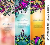 vintage color lace floral set... | Shutterstock .eps vector #212813098