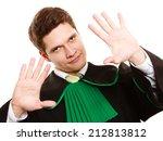 law. man lawyer attorney in... | Shutterstock . vector #212813812