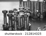 steel bolt  nut   spring washer | Shutterstock . vector #212814325