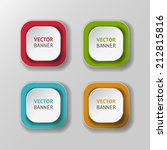 vector infographic banners set | Shutterstock .eps vector #212815816