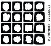stylish grunge symbols. set of...   Shutterstock .eps vector #212820736
