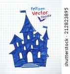childlike felt pen drawing of... | Shutterstock .eps vector #212823895