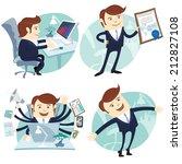 vector illustration office man... | Shutterstock .eps vector #212827108