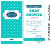 baby shower invitation. azure... | Shutterstock .eps vector #212829202