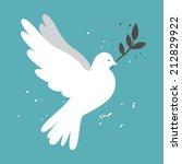 white simple vector dove on... | Shutterstock .eps vector #212829922
