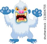 Stock vector angry cartoon yeti 212834755