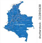 colombia map | Shutterstock .eps vector #212843638