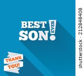 best son ever sign icon. award... | Shutterstock . vector #212848408
