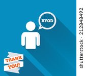 byod sign icon. bring your own...   Shutterstock . vector #212848492